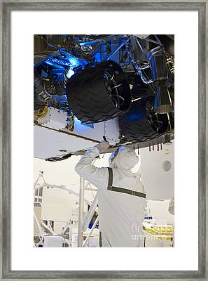 Looking Under The Hood Of Rover Framed Print by NASA/Glenn Benson