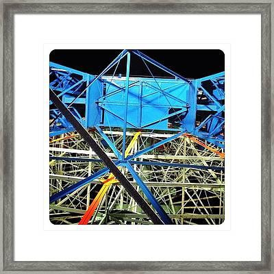 Looking Up At The Wonder Wheel Framed Print