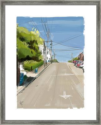 Looking Up Dolores Street Framed Print by Russell Pierce