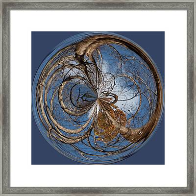 Looking Up Orb Framed Print