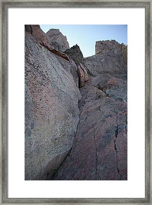 Looking Up The Ledges On Longs Peak Framed Print by Cynthia Cox Cottam