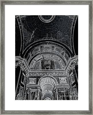 Looking Up. Vatican. Black Framed Print by Tanya  Searcy