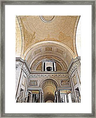 Framed Print featuring the photograph Looking Up. Vatican. Brown by Tanya  Searcy