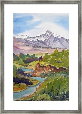 Looking West Hot Creek Framed Print by Pat Crowther