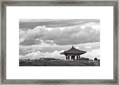 Framed Print featuring the photograph Looks Like Korea by Kevin Bergen