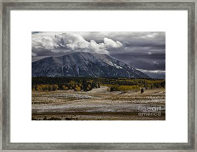 Looming Storm Framed Print