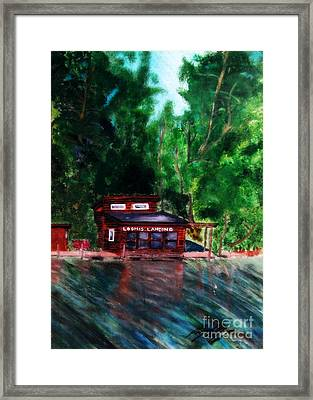 Framed Print featuring the painting Loomis Landing by Ayasha Loya
