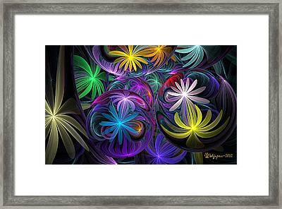 Loonie Flowers Framed Print by Peggi Wolfe
