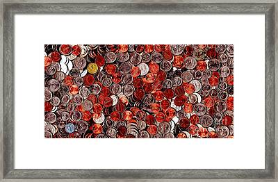 Loose Change . 2 To 1 Proportion Framed Print by Wingsdomain Art and Photography