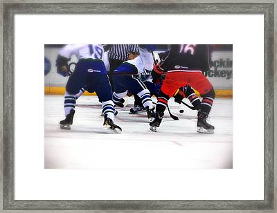 Loose Puck Framed Print by Karol Livote