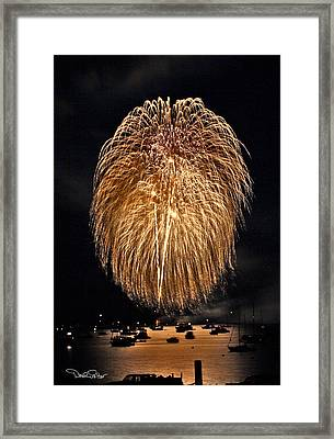 Lopez Island Fireworks 1 Framed Print by David Salter