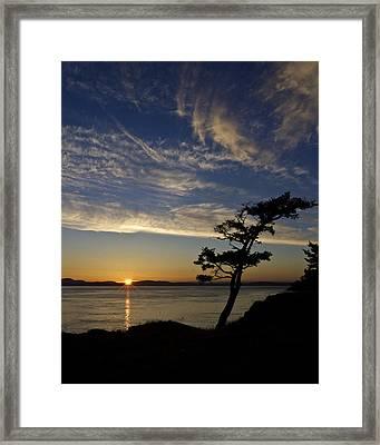 Lopez Island Sunset Framed Print