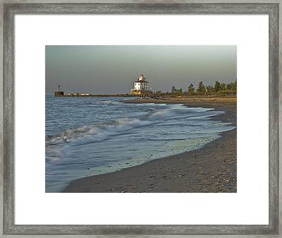 Lorain Light Framed Print