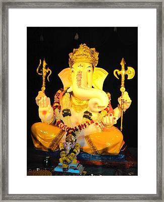 Lord Ganapati Framed Print by Pranav  Waghmare