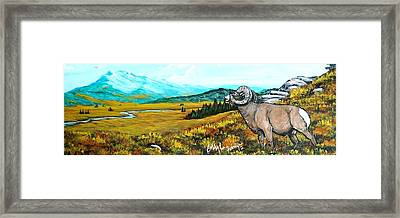 Lord Over The Mountains Framed Print by Bobbylee Farrier