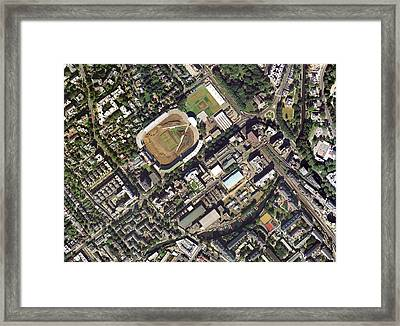 Lord's Cricket Ground Renovation Framed Print by Getmapping Plc