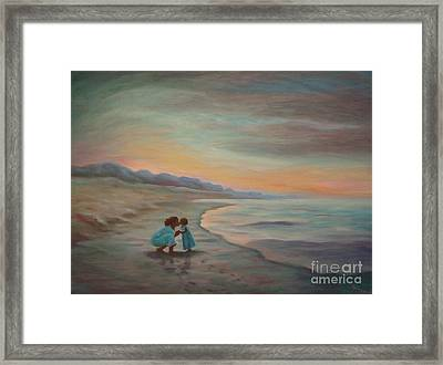 Framed Print featuring the painting Loren And Jewel by Gretchen Allen