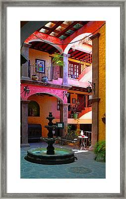 Loreto Hotel Lobby Framed Print by Scott Massey