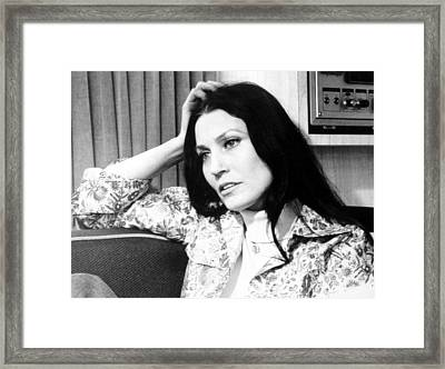 Loretta Lynn, 1975 Framed Print by Everett