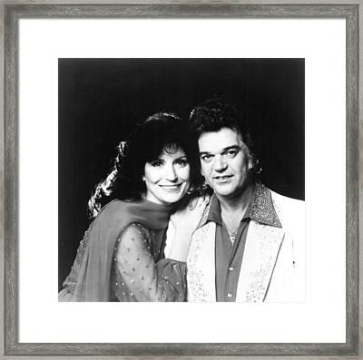 Loretta Lynn And Conway Twitty, Circa Framed Print by Everett