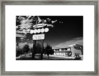 Lorraine Hotel Site Of The Murder Of Martin Luther King Now The National Civil Rights Museum Memphis Framed Print by Joe Fox