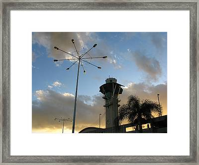 Los Angeles Airport Framed Print by Ian Stevenson