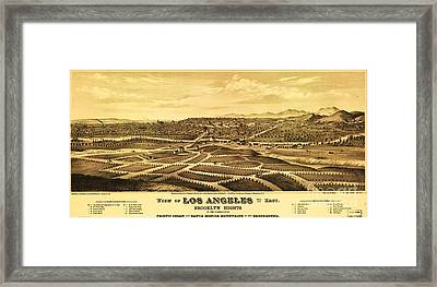 Los Angeles From The East Framed Print by Pg Reproductions