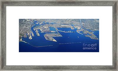 Los Angeles Seaport Panorama Framed Print
