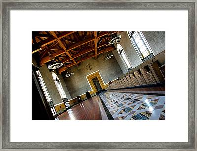 Los Angeles Union Station Terminal Framed Print by Jeff Lowe