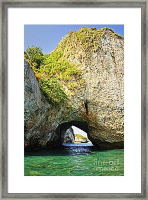 Los Arcos Park In Mexico Framed Print