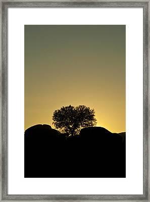 Los Barruecos Framed Print