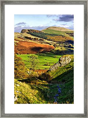 Lose Hill And Great Ridge Framed Print by Darren Burroughs
