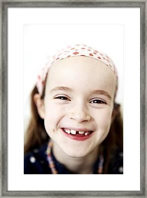 Loss Of Milk Teeth Framed Print by Ian Boddy