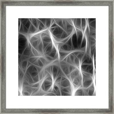 Lost In A Web Of Lies Framed Print by Tilly Williams