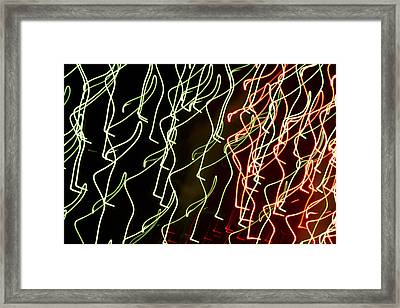 Lost In The Crowd Framed Print by Dean Bennett