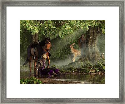 Lost In The Enchanted Forest Framed Print by Daniel Eskridge