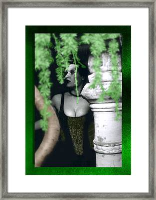Lost In The Garden Framed Print by Swav Jusis