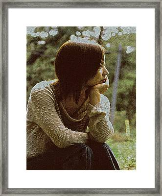 Framed Print featuring the photograph Lost In Thought by Tim Ernst