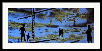Bahn Digital Art Framed Prints