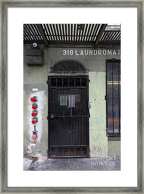 Lost In Urban America - Laundromat - Tenderloin District - San Francisco California - 5d19347 Framed Print by Wingsdomain Art and Photography