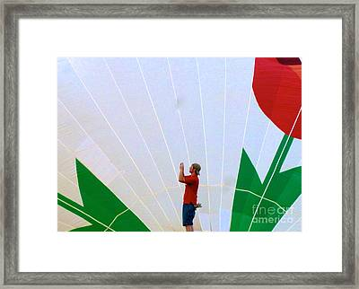 Lost Infront Of The Balloon Framed Print by Mark Dodd