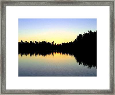 Lost Lagoon Sunset Framed Print by Will Borden