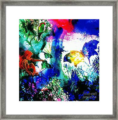 Framed Print featuring the mixed media Lost Paradise by Hartmut Jager