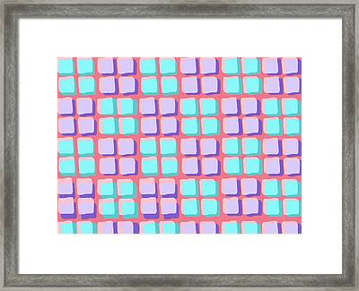 Lots Of Squares Framed Print by Louisa Knight