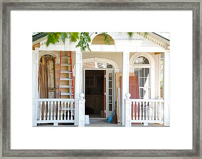 Framed Print featuring the photograph Lots To Do In Fredericksburg by Mary McAvoy