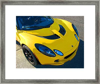 Lotus Elise Front Study Framed Print by Samuel Sheats