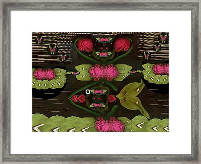 Lotus Fish Comes In Love Framed Print