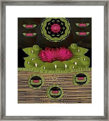 Lotus Flowers In The Lotus Sea Framed Print