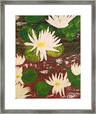 Lotus Flowers Framed Print by Pretchill Smith