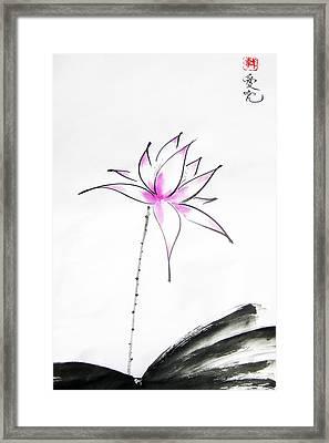 Lotus Rising Framed Print